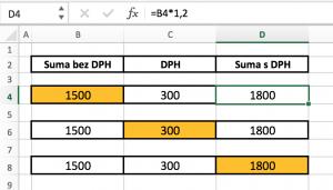bez-dph-na-s-dph-300x171 Vzorec pre výpočet DPH v MS Excel