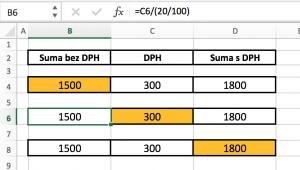 excel-dph-prepocet3-300x170 Vzorec pre výpočet DPH v MS Excel