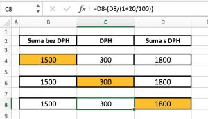 excel-dph-prepocet5-300x171 Vzorec pre výpočet DPH v MS Excel