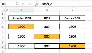 excel-dph-prepocet6-300x172 Vzorec pre výpočet DPH v MS Excel