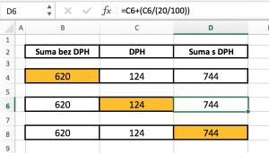 prepocet-DPH-z-DPH-300x171 Vzorec pre výpočet DPH v MS Excel
